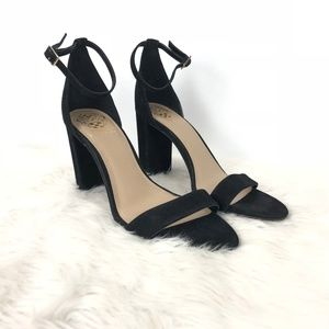 Vince Camuto Black Leather Malissa Sandals